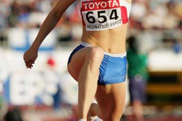 Anna Pyatykh of Russia in the Triple Jump final (Getty Images)