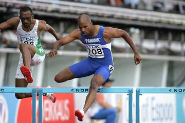 Bayano Kamani competing in Helsinki 2005 (Victah Sailer)