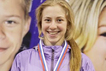 Russian sprinter Kristina Sivkova (Russian Athletics)
