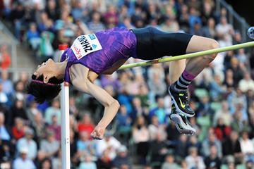 Zhang Guowei, winner of the high jump at the IAAF Diamond League meeting in Oslo (Mark Shearman)