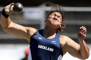 Valerie Adams-Vili competing at the 2006 New Zealand Championships (Getty Images)