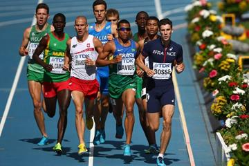 Action shot Pierre Ambroise Bosse in the men's 800m at the IAAF World Athletics Championships Moscow 2013  (Getty Images)