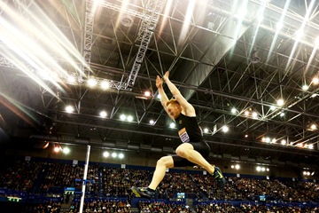 Greg Rutherford in action in the long jump (Getty Images)
