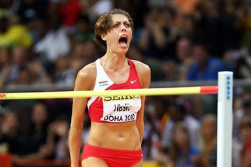 Blanka Vlasic at the 2010 IAAF World Indoor Championships (Getty Images)