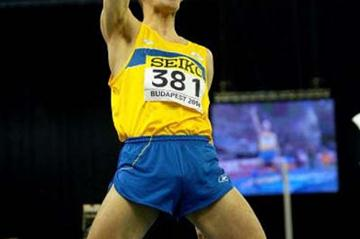 Stefan Holm of Sweden celebrates winning the men's High Jump (Getty Images)