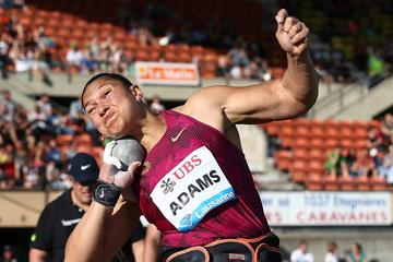 Valerie Adams at the 2014 IAAF Diamond League in Lausanne (Giancarlo Colombo)