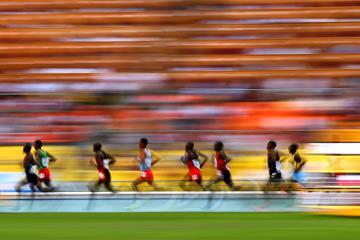 The men's 10,000m in action (Getty Images)