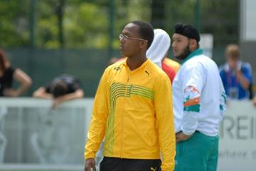 Traves Smikle of Jamaica makes history as Jamaica's first thrower to advance to a World Champs final (Paul Reid)