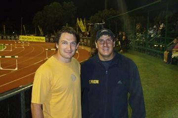 Olympic champion Primož Kozmus on South African training camp with Chris Harmse (Freelance)