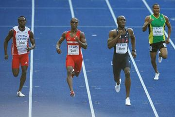 LaShawn Merritt sets a World Leading mark of 44.37 seconds in the men's 400m semi-final in Berlin (Getty Images)