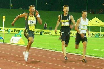 Pieter de Villiers (left) taking the win in Germiston (Mark Ouma)