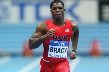 Marvin Bracy in the 60m heat at the 2014 IAAF World Indoor Championships in Sopot (Getty Images)