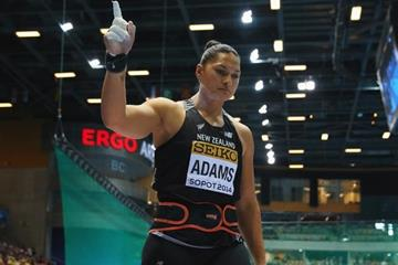 Valerie Adams in the shot put at the 2014 IAAF World Indoor Championships in Sopot (Getty Images)