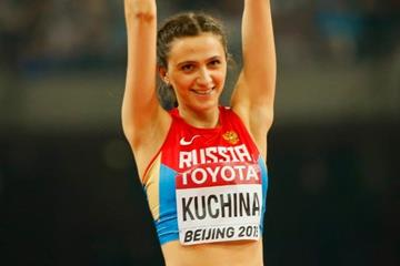 Maria Kuchina in the high jump at the IAAF World Championships, Beijing 2015 (Getty Images)