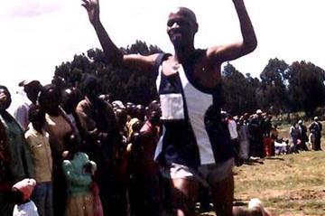 Johnson Muiruri (finishes second behind Shami) in Nyahururu (O. Okoth)