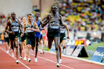 Ronald Kwemoi wins the 1500m at the IAAF Diamond League meeting in Monaco (Philippe Fitte)