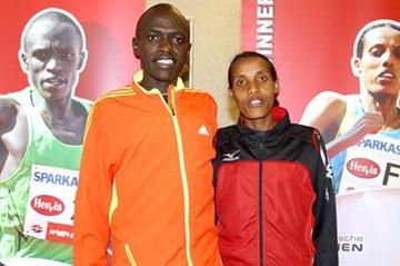 John Kiprotich and Fate Tola in Vienna (Victah Sailer)