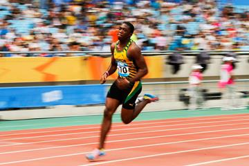 Martin Manley winning the 400m at the 2014 Youth Olympic Games (Getty Images)