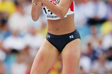 German heptathlete Jennifer Oeser at the 2006 European Championships in Gothenburg (Getty Images)