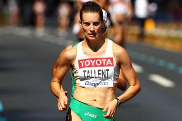 Claire Tallent of Australia competes in the women's 20km race walk  (Getty Images)