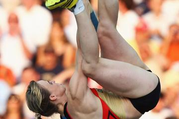Germany's Silke Spiegelburg in the women's Pole Vault final (Getty Images)