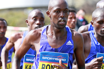 Geoffrey Ronoh in action at the Prague Half Marathon (Victah Sailer / organisers)