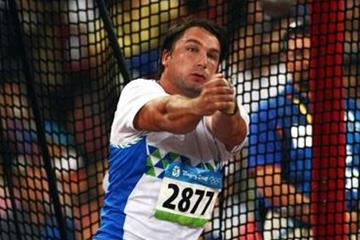 Primož Kozmus becomes Slovenia's first Olympic athletics gold medallist (Getty Images)