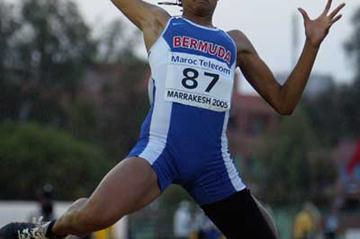 Arantxa King of Bermuda in action during the Girls' Long Jump at the World Youth Championships (Getty Images)