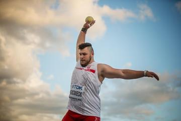 Konrad Bukowiecki in the shot put at the IAAF World U20 Championships Bydgoszcz 2016 (Getty Images)