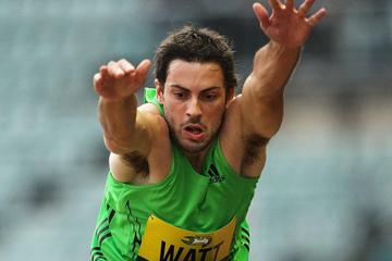 Mitchell Watt wins the long jump in Sydney (Getty Images)