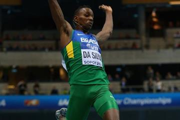 Mauro da Silva in the long jump at the 2014 IAAF World Indoor Championships in Sopot (Getty Images)