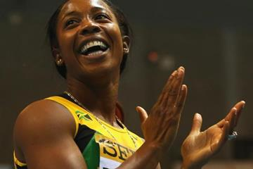 60m champion Shelly-Ann Fraser-Pryce at the 2014 IAAF World Indoor Championships in Sopot (Getty Images)