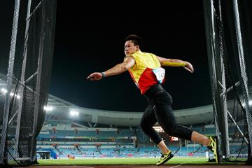 Yulong Cheng at the 2014 Youth Olympic Games (Getty Images)