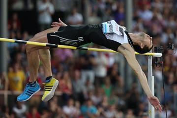 Bohdan Bondarenko at the 2014 IAAF Diamond League meeting in Lausanne (Giancarlo Colombo)
