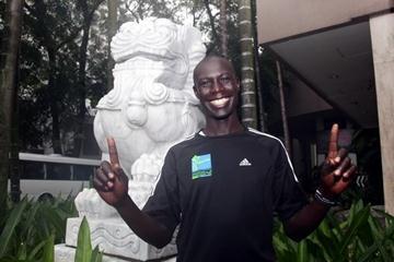 Luke Kibet on the eve of his Singapore Marathon defence (Kazu Eguchi)