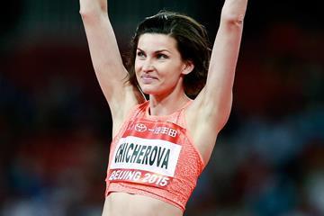 Anna Chicherova at the 2015 IAAF World Challenge meeting in Beijing (Getty Images)