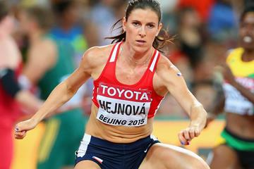 Czech Republic's Zuzana Hejnova in the 400m hurdles semi-final at the IAAF World Championships, Beijing 2015 (Getty Images)