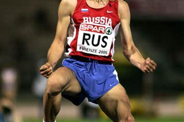 Aleksey Dmitrik of Russia celebrates winning the men's High Jump in Florence (Getty Images)