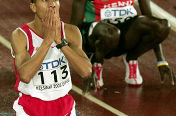 Rashid Ramzi celebrates winning gold in the 1500m (Getty Images)
