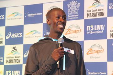 Kenneth Mungara ahead of the 2016 Gold Coast Marathon (Organisers)