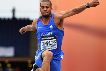 Benjamin Compaore wins the triple jump at the IAAF Continental Cup, Marrakech 2014 (Getty Images)