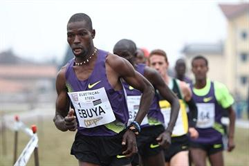 Joseph Ebuya of Kenya on his way to winning the Campaccio Cross Country race (Giancarlo Colombo)