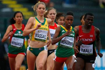Zeyituna Mohammed in the 800m at the 2014 IAAF World Junior Championships in Eugene (Getty Images)