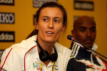 Katarzyna Kowalska of Poland at the IAAF Press Conference in Bydgoszcz (Getty Images)