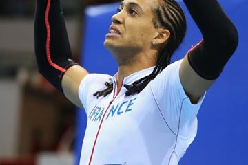 60m hurdles silver medallist Pascal Martinot-Lagarde at the 2014 IAAF World Indoor Championships in Sopot (Getty Images)