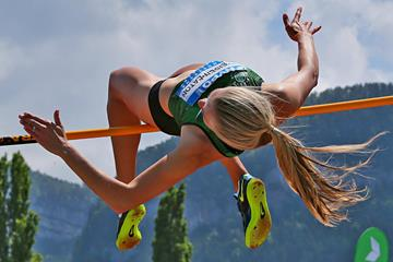Brianne Theisen Eaton at the 2014 Hypo Meeting in Gotzis (PHOTO PLOHE)