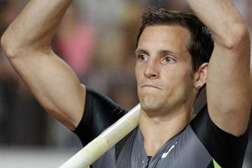 Renaud Lavillenie, winner of the Pole Vault at the 2012 Lausanne Diamond League (Gladys Chai)