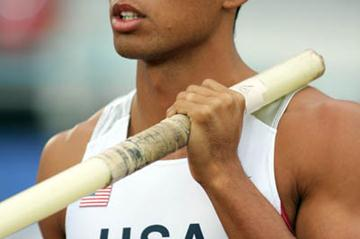 Bryan Clay of the US in the Decathlon's Pole Vault (Getty Images)