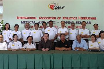 Participants and Lecturers of the Medical and Anti-Doping Seminar at RDC Jakarta (IAAF)