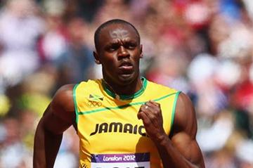 Usain Bolt of Jamaica  competes in the Men's 100m Round 1 Heats on Day 8 of the London 2012 Olympic Games at Olympic Stadium on August 4 2012 (Getty Images)
